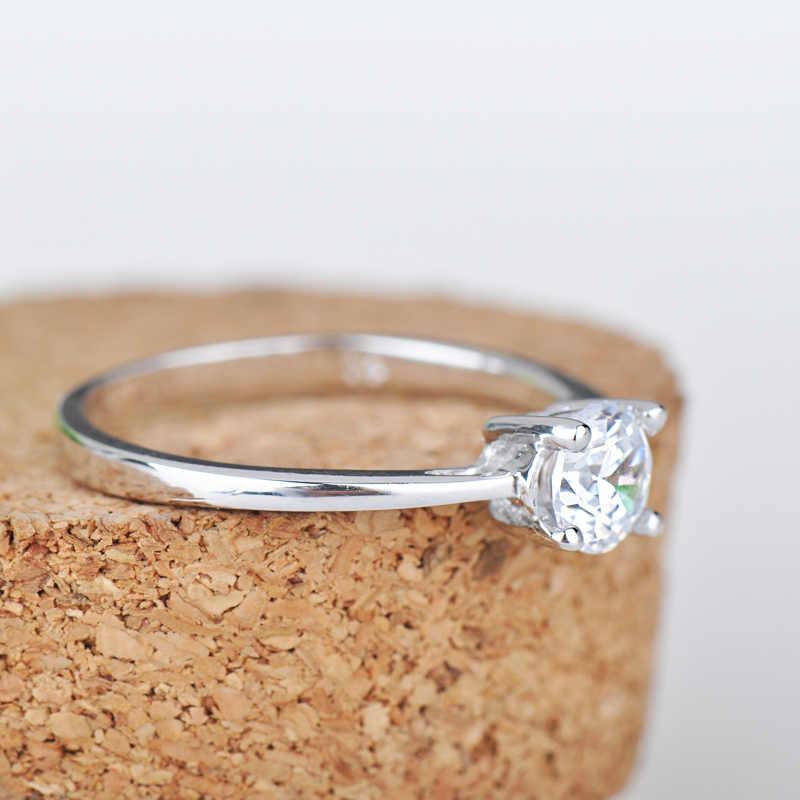 90% הנחה אופנה נוצץ AAA CZ טבעות נישואים לזוגות 925 סטרלינג כסף טבעת עבור נשים גברים האהבה יום מתנה