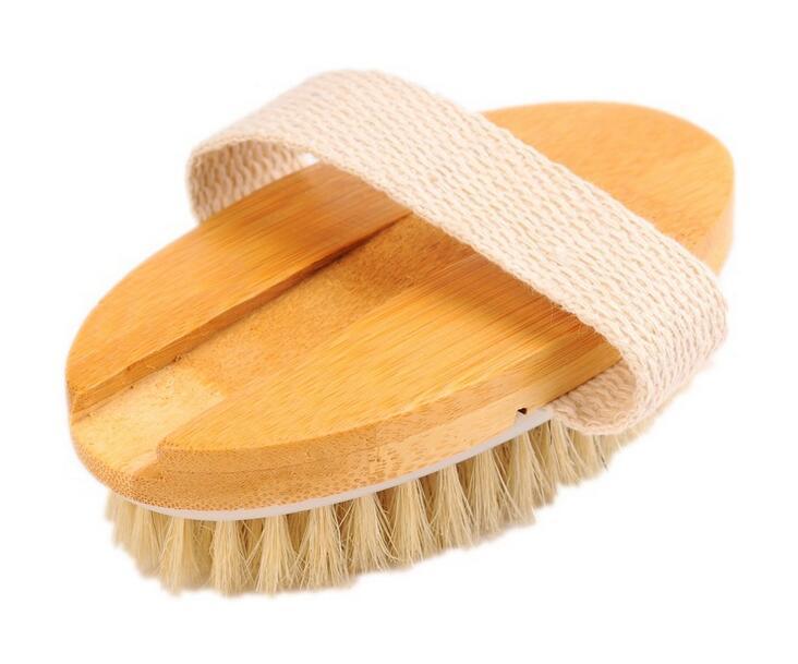 Einfach 2 In 1 Abnehmbare Langstieligen Holz Natürlichen Borsten Pinsel Bad Pinsel Massager Baby Bad Dusche Bad Zubehör Bad Bad & Dusche