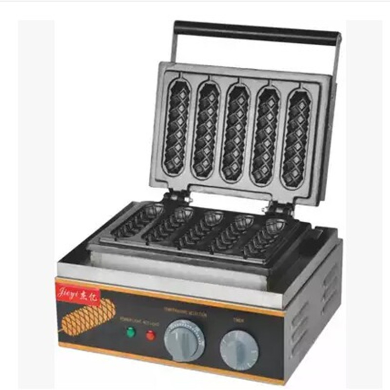 220V/1500W Commercial Electric Lolly Waffle <font><b>Maker</b></font> Sausage Machine <font><b>Ice</b></font> Cream Skin Macker