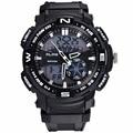 2016 POR IGUAL Los Hombres S Choque Deportes Al Aire Libre Relojes de Cuarzo Horas Digital Reloj Militar 50 m Impermeable Reloj de Pulsera de Silicona Reloj LED G