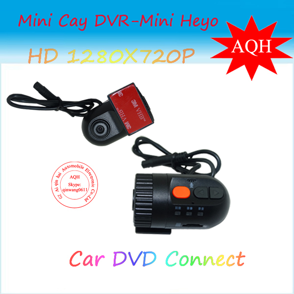 Free shipping Small Car DVR HD 720P diving video recorder Wide angle 140 degree support G sensor support SD card 32GB