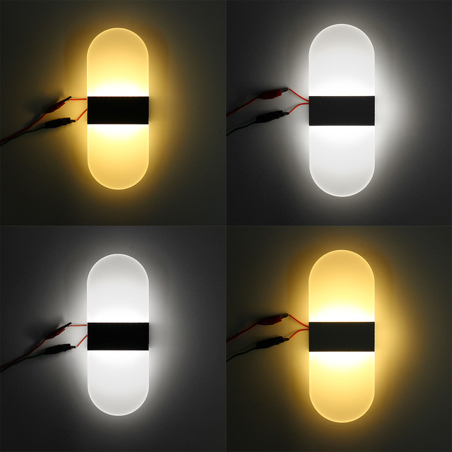 S/M/L Modern LED Round/Square Wall Light Simple  4