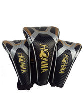 New Mens Golf wood head Cover 1 3 5 HONMA clubs head cover black colors Golf wood driver head cover Free shipping(China)