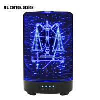 3D Constellation Aroma Essential Diffuser Air Humidifier For Home 100ML Libra Ultrasonic Mist Maker Fogger With