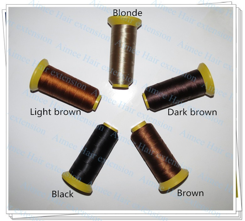 с ткачества иглы 90 мм длинная форма иглы 100 шт. и 1 черный нейлон высокопрочный полиэстер нить для волос утка 3 типа как подарок