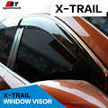 Smoke Window Visor cover trim Vent Shade Rain/Sun/Wind Guard car styling for NISSAN X-TRAIL Rogue 2014-2017 Awnings Shelters