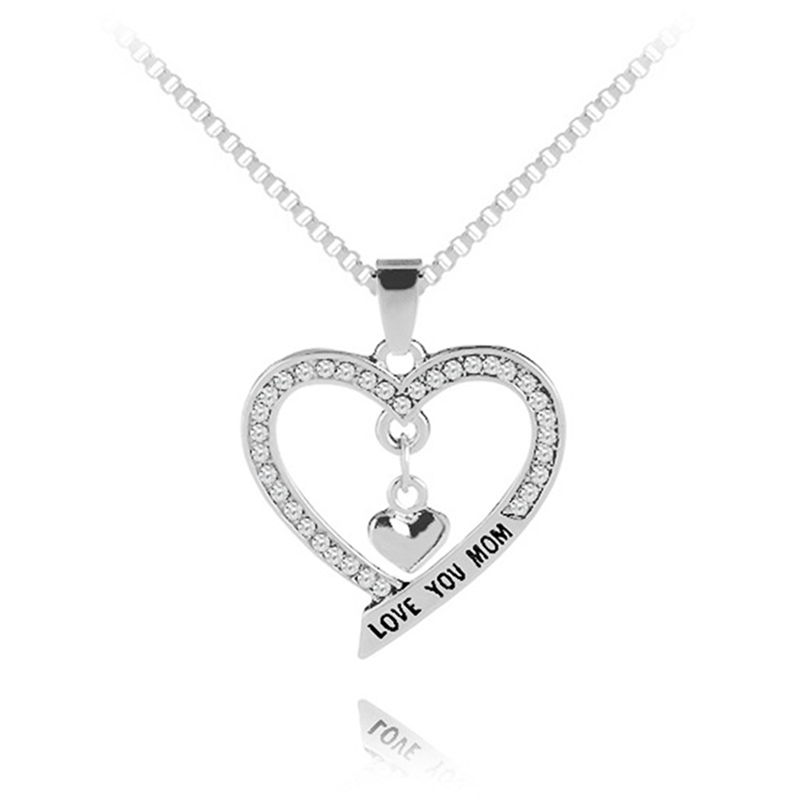 New style Mother day gift pendant necklace love you mom