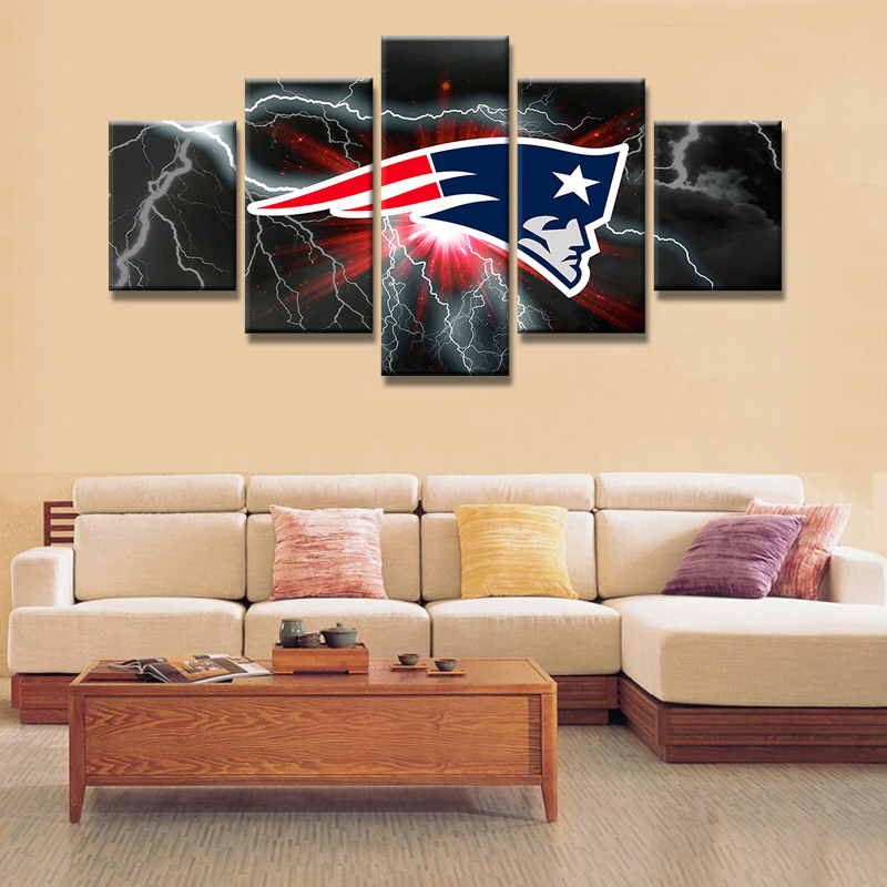Modular pictures creative wall art hd prints 5 pieces - What type of paint for living room walls ...