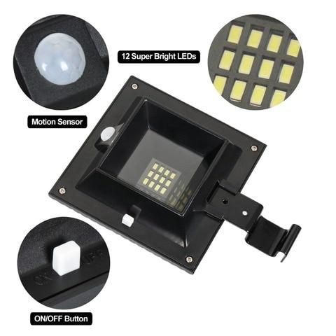 t sunrise 4 pacote led solar sensor