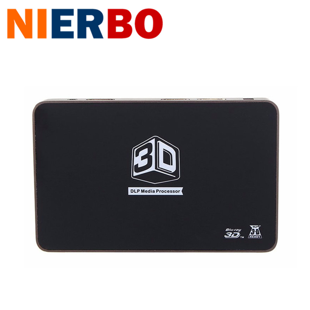 2D to 3D Converter Box 1080P 720P 3D DLP Projector HDMI Video Media Processor Support HDMI 1.3 1.4 Games 3D Effective Adjustable lkv223 new 2d to 3d hdmi video converter box for tv movie blue ray dvd set top box 2d 3d viewhd 1080p amber blue 3d sbs 3d