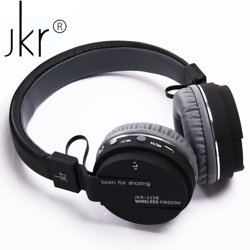 JKR 215B Wireless Blutooth Headphone Bluetooth Hifi Earphone Auricular Big Casque Cordle ...