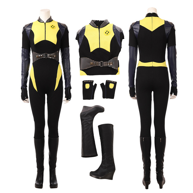 Cosplay Costume Deadpool 2 Negasonic Teenage Warhead Ellie Phimister Cosplay Costume Marvel Halloween Carnival Outfit