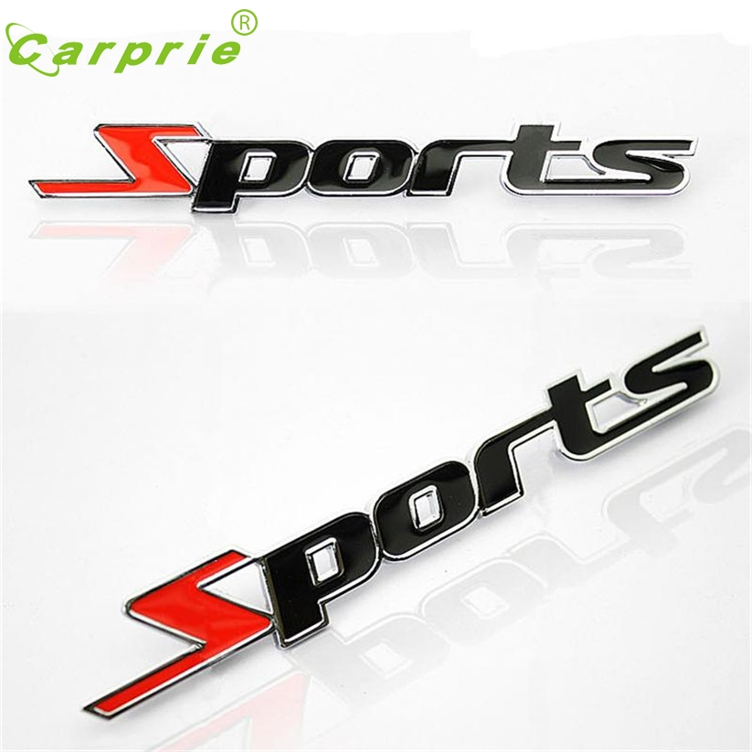 car-styling 3D car decals auto Sticker chrome letters for cars Sports Word metal Stickers Emblem Badge Decal Auto DEC 22