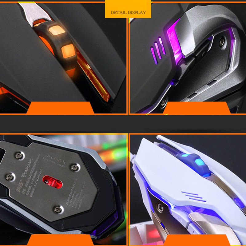 Mechanical Gaming Mouse Mice 6 Button 4 Modes DPI USB Interface Lighting For Computer LSMK99