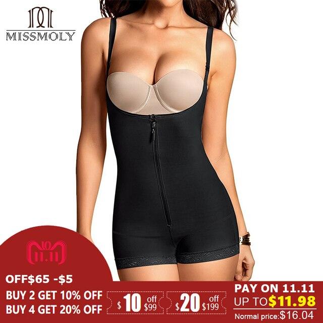 3e0a7c360a Women Full Body Shaper Slip Suit Powernet Shapewear LATEX Waist Trainer  Girdle Slim Corset Tummy Control