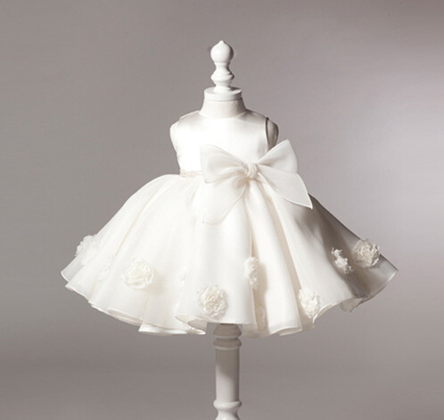 Aliexpress.com : Buy Baby White Dress Bow Lace Christening Gowns ...