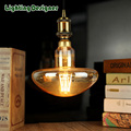 Cogumelo conduziu a lâmpada pandent luz edison lâmpada do bulbo dimmable 4 W 220 V E27 levou filamento da lâmpada lâmpada de mesa do vintage