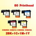 2BK + 1C + 1M + 1Y Печатающая головка для hp80 C4820A C4821A C4822A C4823A Замена для hp 80 печатающая головка Designjet 1000 1050c 1055 см