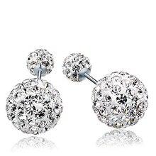 2019 New Fashion Jewelry Double Ball Stud Earrings For Women Luxury Brand Double Zircon Statement Ball Stud Earrings
