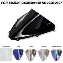 ABS Windscreen For Suzuki GSXR600 GSXR750 GSX 600 750 2006 2007 Motorcycle Windshield Wind Deflectors