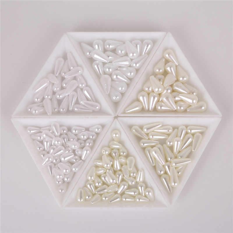 6x10/6x14/8x14mm Tear Drop Runde Perle Imitation ABS Perlen Für schmuck Machen Kunst Handwerk Bekleidung Nähen Garment Beads DIY