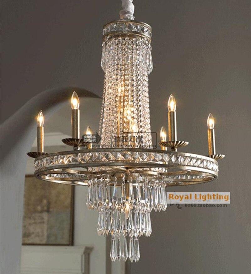 Led Cafe Vintage Eisen Kronleuchter Kristall Leuchte Luxus Hngen Lampe Wohnzimmer Projekt Bar Kche Lichter Lamparas
