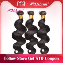 Mslynn Hair Malaysian Body Wave Bundles Human Hair Bundles 1 3 Pc Natural Color Can Be