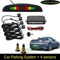 Car LED Parking Sensor 4 Sensors 7 Colors Auto Reverse Backup Radar Detector Monitor System Backlight Display