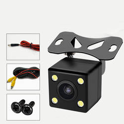 YILUZHE Автомобильная камера заднего вида Универсальная 4 светодио дный ных ночного видения резервная парковка обратная камера водостойкая 170