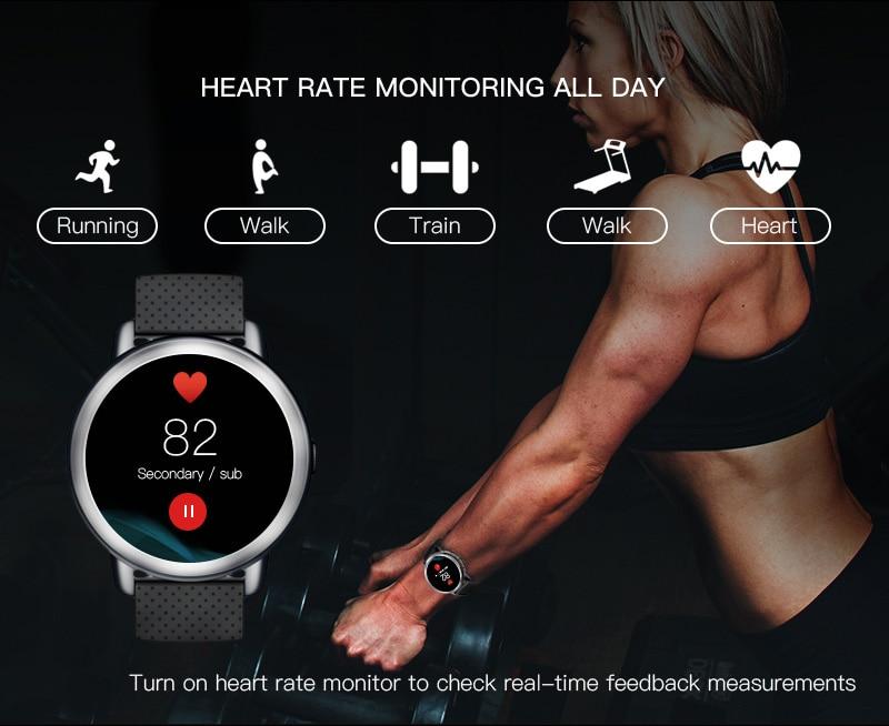 LEMFO LEM8 4G Smart Watch Android 7.1.1 GPS Smartwatch Men 2GB 16GB 580Mah Battery 1.39 Inch AMOLED Screen Sport Watch 11
