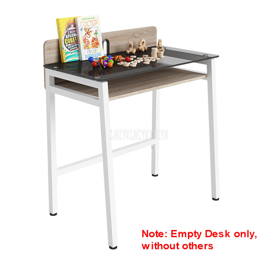 80*48.5cm Modern Wood Desk Desktop Steel Metal Leg Notebook Benchtop Computer Table Lapdesk Bedroom Student Study Table 12155#