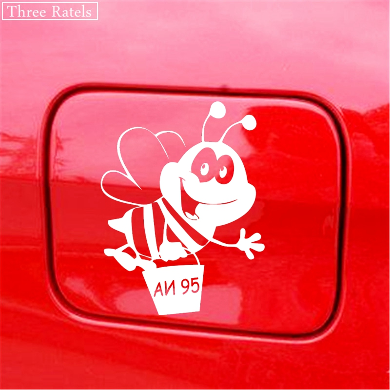 Image 5 - Three Ratels TZ 508 12.9*10cm 1 5 pieces  Bee AI 95 Sticker on the tank car sticker and decals funny stickers-in Car Stickers from Automobiles & Motorcycles