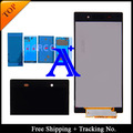 Envío libre + número de seguimiento. + conjunto completo pegamento 100% original probado para Sony Xperia Z1 L39h montaje de la pantalla LCD - negro