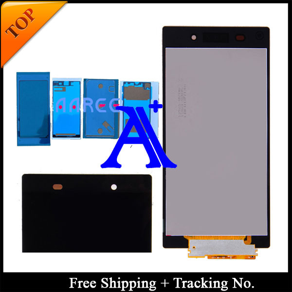 Free Shipping + Tracking No.+Full set Glue 100% tested original For Sony Xperia Z1 L39h LCD Screen  Assembly - Black