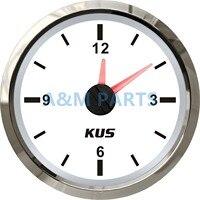 KUS Deniz Kuvars Saat Tekne Araba RV Saat Ölçer Beyaz Yüz Dial 12 Saat 12 V/24 V
