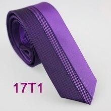 Yibei Coachella Галстуки фиолетовый галстук половина темно-фиолетовый средний маленький геометрический вертикальный полосатый галстук тонкий человек из микрофибры 6 см галстуки