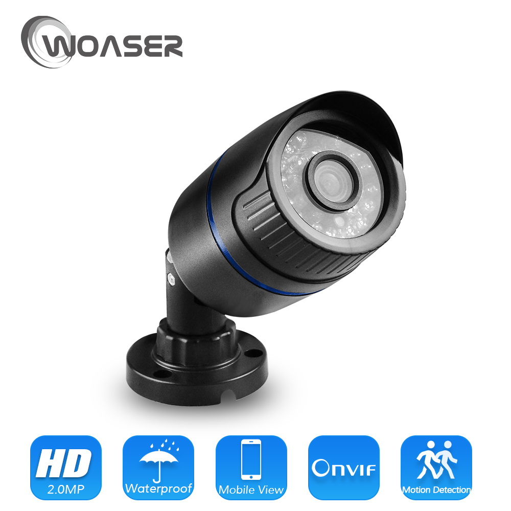 WOASER 1.0/2.0MP IP Camera H.264 Night Vision IR CCTV Bullet Surveillance HD 720/1080P Camera Home Security ONVIF XMEYE Camera hd 720p ip camera outdoor bullet h 264 cmos security camera ir night vision 3 6mm lens surveillance 1 0mp ip camera onvif