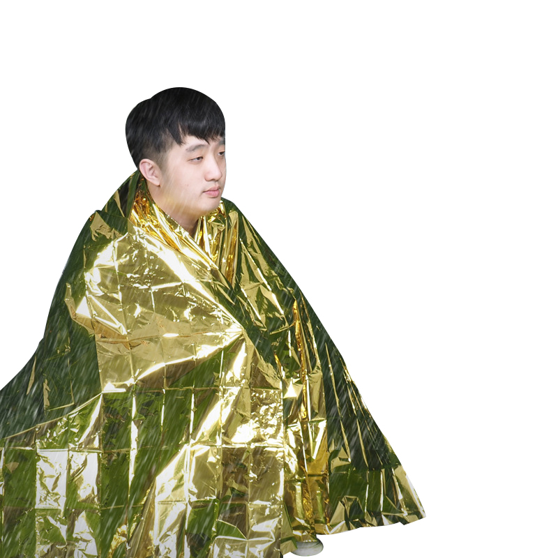 New Outdoor Water Proof Emergency Survival Rescue Blanket Gold Foil Thermal Space First Aid Sliver Rescue CurtainNew Outdoor Water Proof Emergency Survival Rescue Blanket Gold Foil Thermal Space First Aid Sliver Rescue Curtain