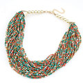 Fashion Vintage Bohemian Necklace for Women Multi-layer Beaded Chokers Necklaces Statement Jewelry Ethnic 2017 collier femme