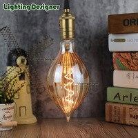 Vintage antigo levou filamento da lâmpada de luz Suave espiral 4 W calor brilho Âmbar/clear cor o mais belo pingente lâmpada do bulbo