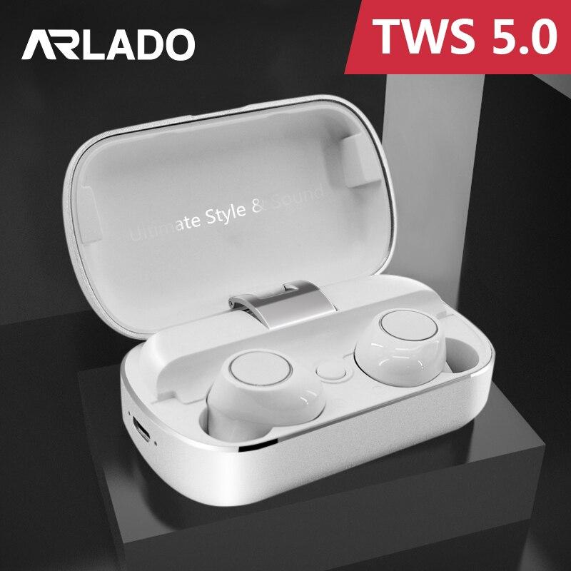 Arlado S8 TWS Binaural écouteur haute qualité Bluetooth sans fil stéréo sport casque dans l'oreille réduction du bruit écouteurs pour téléphones