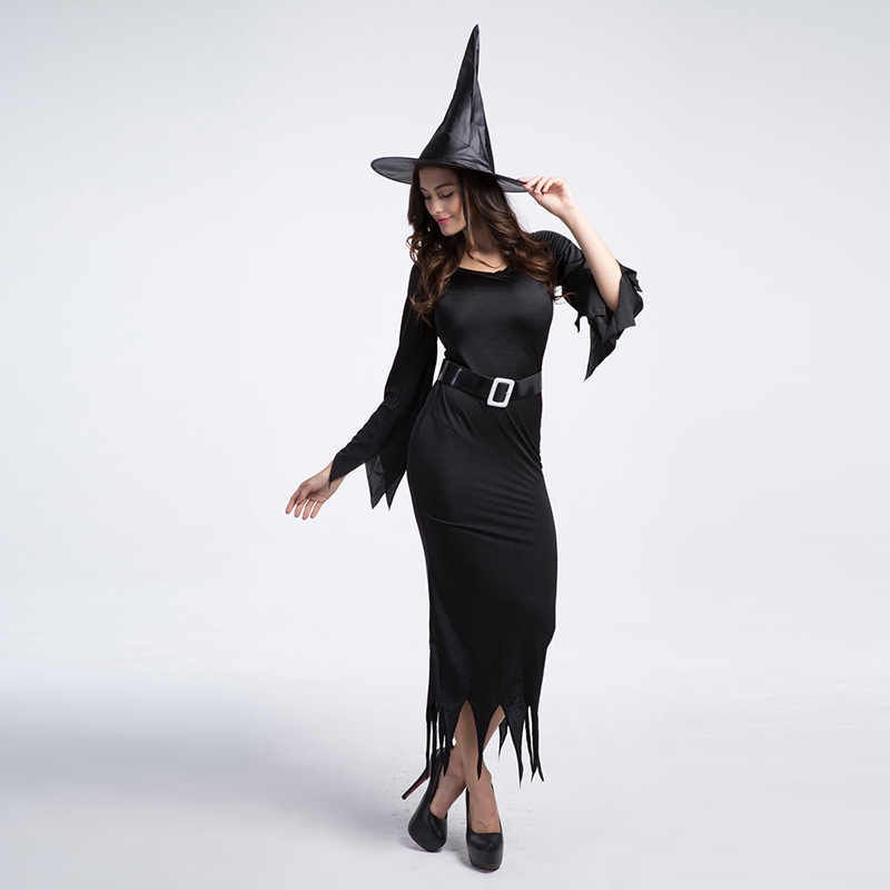 95dea1e9741 ... Sexy Witch Costume Adult Womens Magic Moment Costume Black Evil Witch  Halloween Carnival Fancy Dress ...