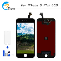 ET-Super 5 PCS 2 Cores Para iPhone6 além de LCD Screen Display Toque Digitador Assembléia Repair Tool + Temperado vidro Frete grátis
