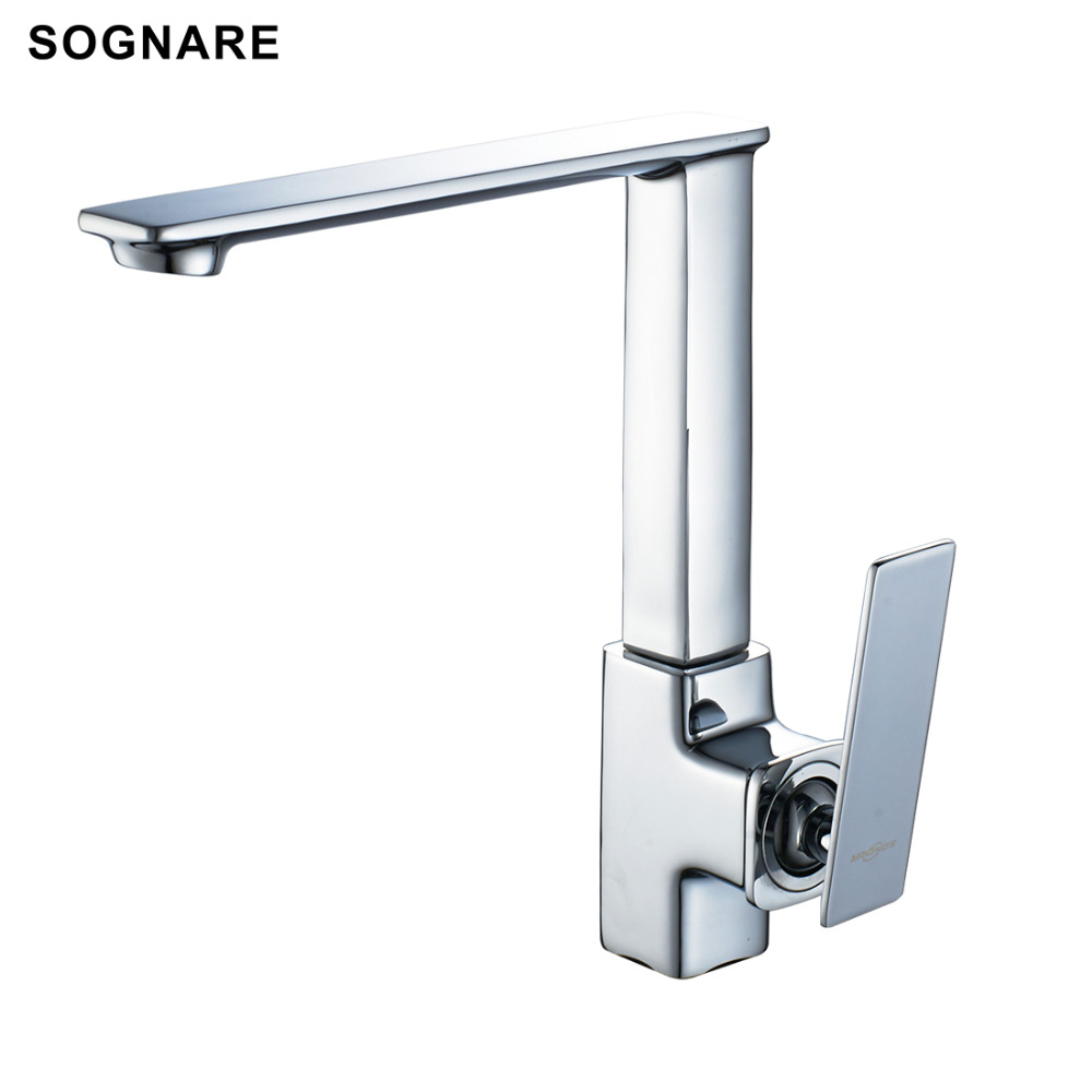 SOGNARE Wholesale And Retail Kitchen Faucet Cold and Hot Water Mixer Tap Single Handle 360 Rotation