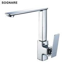 Sognare оптом и в розницу кухонный кран холодной и горячей воды смесителя Одной ручкой 360 Вращение Кухня Смесители D2105