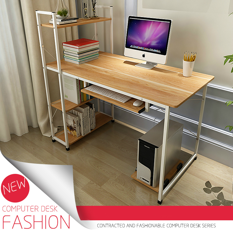 Modern Simple Desktop Computer Desk Student Learning Writing Desk Computer Table Wooden Laptop Desk school office furniture 250616 computer desk and desk style modern simple desk with bookcase desk simple table solder edge e1 grade sheet material