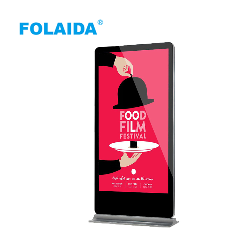 FOLAIDA 32 43 55 65 inch advertising player digital signage Android touch floor standing advertising media player signage
