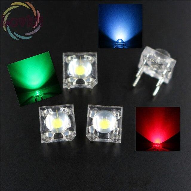 100 X LED 5 MM GEMEINSAME Anode RGB Piranha Super Flux Leds 4 pin Dome Weitwinkel Super Helle Licht Lampe Für Auto Licht HEIßER VERKAUF
