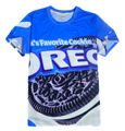 Verão mulheres / homens leites favoritos OREO cookies 3d camisetas de Harajuku Tees Tops M-XXL