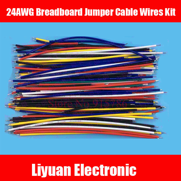 130Pcs 24AWG Breadboard Jumper Cable Wires Kit Tinning Double ...